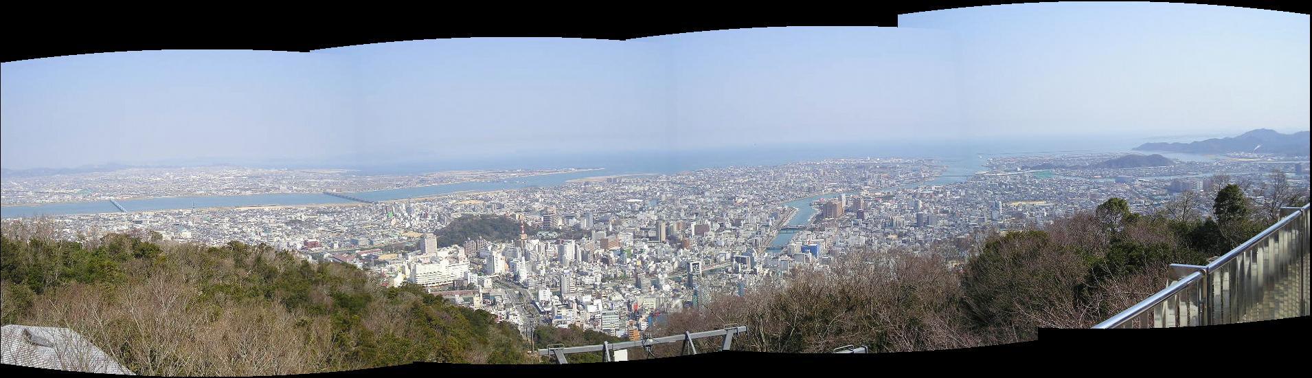 徳島市遠景パノラマ画像